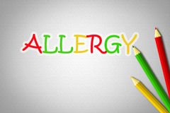 Allergy Concept. Text idea background Royalty Free Stock Image