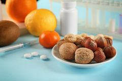 Allergy food concept. Allergic food royalty free stock photos