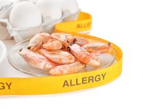 Allergy food concept. Allergic food royalty free stock photo