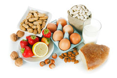 Allergy food Royalty Free Stock Photos