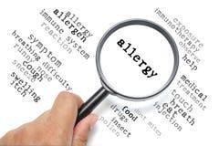 Allergy, health conceptual focus on Allergy Stock Photos