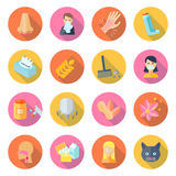 Allergy Icon Flat Royalty Free Stock Images