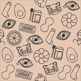 Allergy icon pattern. Vector illustration EPS 10 Royalty Free Stock Photography