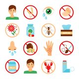 Allergy Icons Set Stock Images