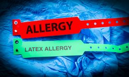 Allergy And Latex Allergy stock photography