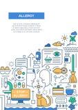 Allergy - line design brochure poster template A4 Stock Photos