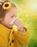 allergy Retrato da mola foto de stock