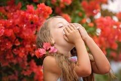 allergy Retrato da mola fotografia de stock