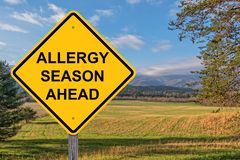 Allergy Season Ahead Warning Sign royalty free stock images
