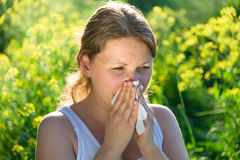 Allergy season Royalty Free Stock Photography