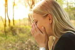 Allergy sneeze Royalty Free Stock Photos