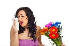Allergy from spring flowers Royalty Free Stock Photo