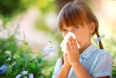 Allergy. Spring portrait Royalty Free Stock Images