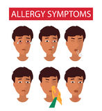 Allergy symptoms information Royalty Free Stock Image