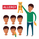 Allergy symptoms information Stock Images