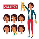 Allergy symptoms information Stock Image