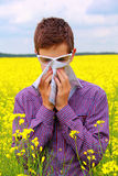 Teenager suffering from pollen allergy Stock Photography