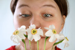 Allergy to the flowers Stock Photos