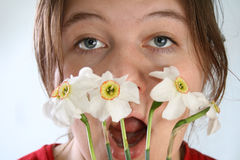 Allergy to the flowers Royalty Free Stock Image