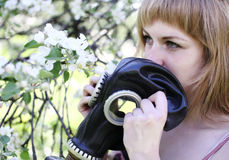 Allergy to pollen Stock Photography
