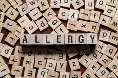 Allergy word concept stock photo