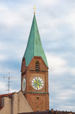 Allerheiligenkirche morgens Kreuz, München Lizenzfreie Stockbilder