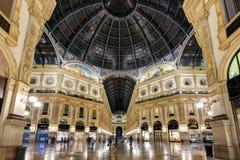Alleria Vittorio Emanuele II w Mediolan, Włochy Zdjęcia Stock