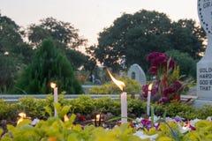 ` Allerseelen` Erinnerung am alten Kirchhof an der Südpark-Straße, Kolkata Stockbild