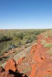 Allerta aerea del fiume dell'Australia di entroterra Immagini Stock Libere da Diritti