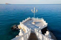 Allerta Alicante di Benidorm Mirador del Castillo Fotografia Stock Libera da Diritti