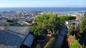 Allerta alla città di Genova Immagini Stock Libere da Diritti
