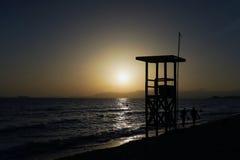 Allerta alla spiaggia Fotografia Stock