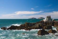 Allerta alla spiaggia di Mazatlan Fotografia Stock