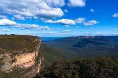 Allerta blu del parco nazionale delle montagne Immagini Stock