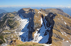 Allerta da catena montuosa rofan, Austria Fotografia Stock
