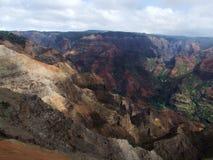 Allerta del canyon di Waimea, Kauai, Hawai Immagini Stock