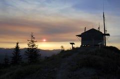 Allerta del fuoco della montagna di Burley vicino al Monte Sant'Elena Fotografie Stock