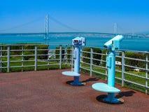 Allerta del ponte di Akashi-kaikyo immagine stock libera da diritti