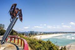 Allerta del punto di Kirra, Coolangatta, la Gold Coast Fotografie Stock Libere da Diritti