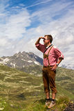 Allerta dell'alpinista Immagini Stock Libere da Diritti