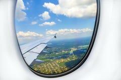 Allerta della finestra degli aerei Fotografia Stock Libera da Diritti