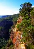 Allerta della frana, Katoomba, montagne blu Fotografia Stock