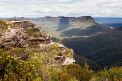 Allerta della frana in montagne blu Australia Immagini Stock