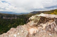 Allerta della frana in montagne blu Australia Immagine Stock Libera da Diritti