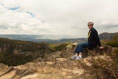 Allerta della frana in montagne blu Australia Fotografia Stock Libera da Diritti