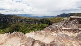 Allerta della frana in montagne blu Australia Fotografia Stock