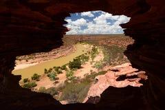 Allerta della natura del ` s della finestra Parco nazionale di Kalbarri Australia occidentale l'australia Fotografia Stock