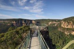 Allerta della roccia del quadro di comando, montagne blu Australia Fotografia Stock Libera da Diritti
