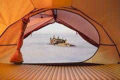 Allerta della tenda per fortificare Hohenzollern Fotografie Stock