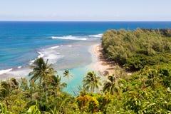 Allerta della traccia di Kalalau, Kauai, Hawai Fotografie Stock